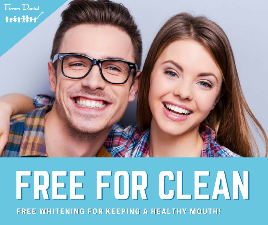 Free For Clean Whitening Program, Free Whitening for keeping a healthy mouth!