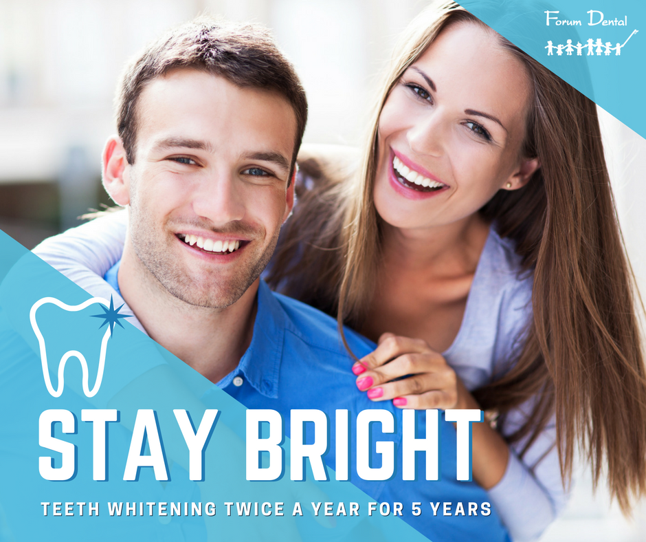 Stay Bright Whitening Program, Teeth Whitening Twice a year for 5 years!